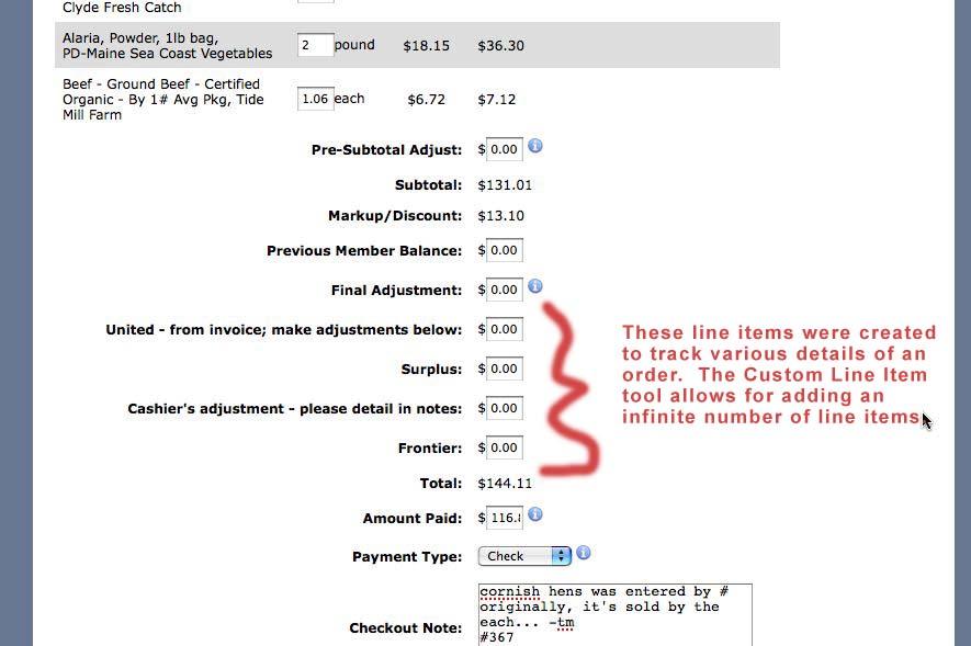 Image: Custom Checkout Line Item Tool